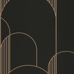 Papier peint High Walls noir et doré - LABYRINTH - Caselio - LBY102119022