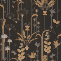 Papier peint Ephemeral noir et doré - LABYRINTH - Caselio - LBY102099020