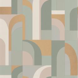 Papier peint Doors vert amande et doré - LABYRINTH - Caselio - LBY102087026