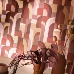 Papier peint Doors terracotta et doré - LABYRINTH - Caselio - LBY102084045