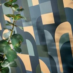Papier peint Doors bleu, kaki et doré - LABYRINTH - Caselio - LBY102086072