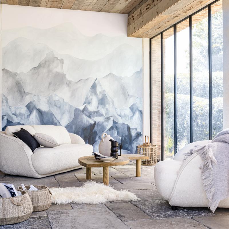 Panoramique Everest bleu gris - PANORAMAS - Casamance - 74951426