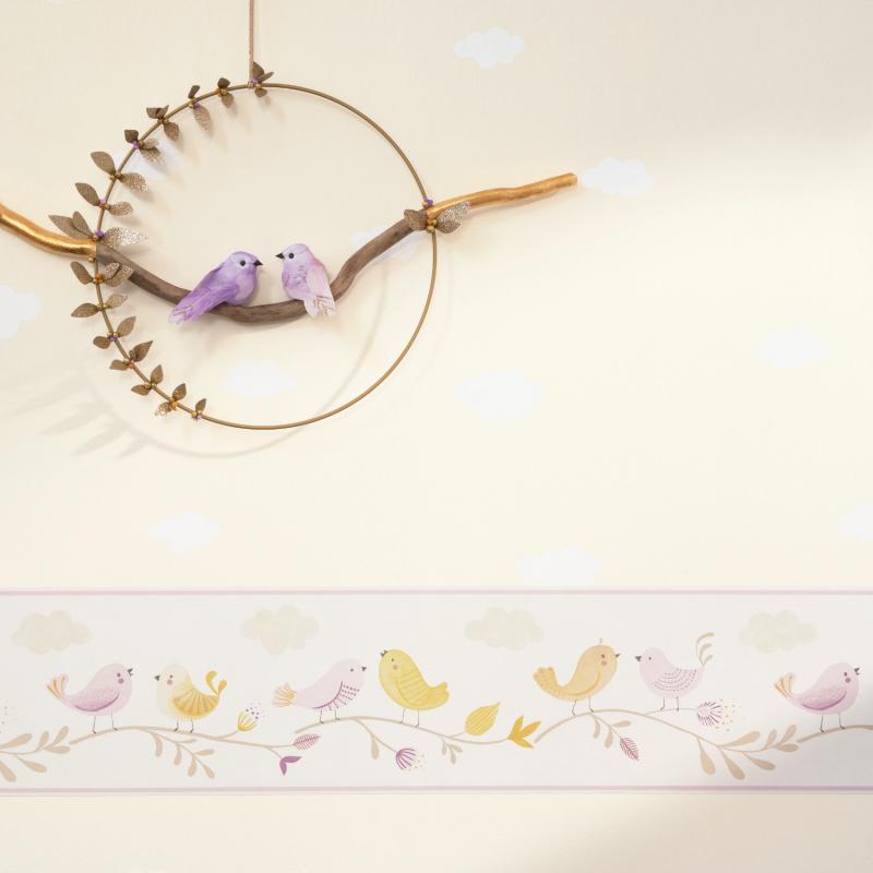 Frise enfant Rose parme et jaune - ROSE & NINO - Casadeco - RONI85596299
