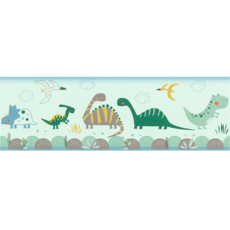Frise enfant Jurassic vert - BAMBINO - Rasch - BBN248852