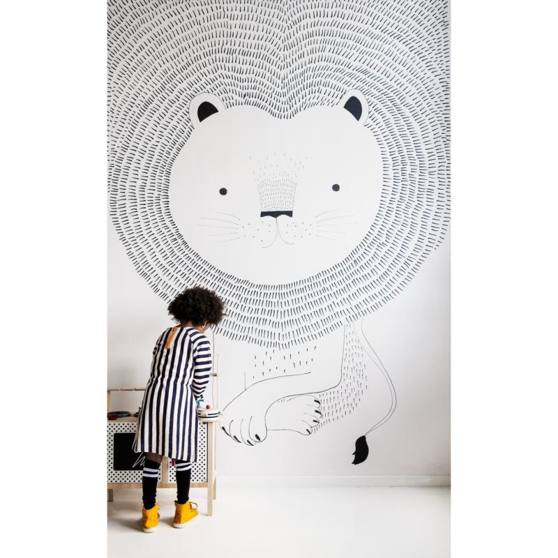 Panoramique Lion noir et blanc - BAMBINO - Rasch - Studio Class BBN842227