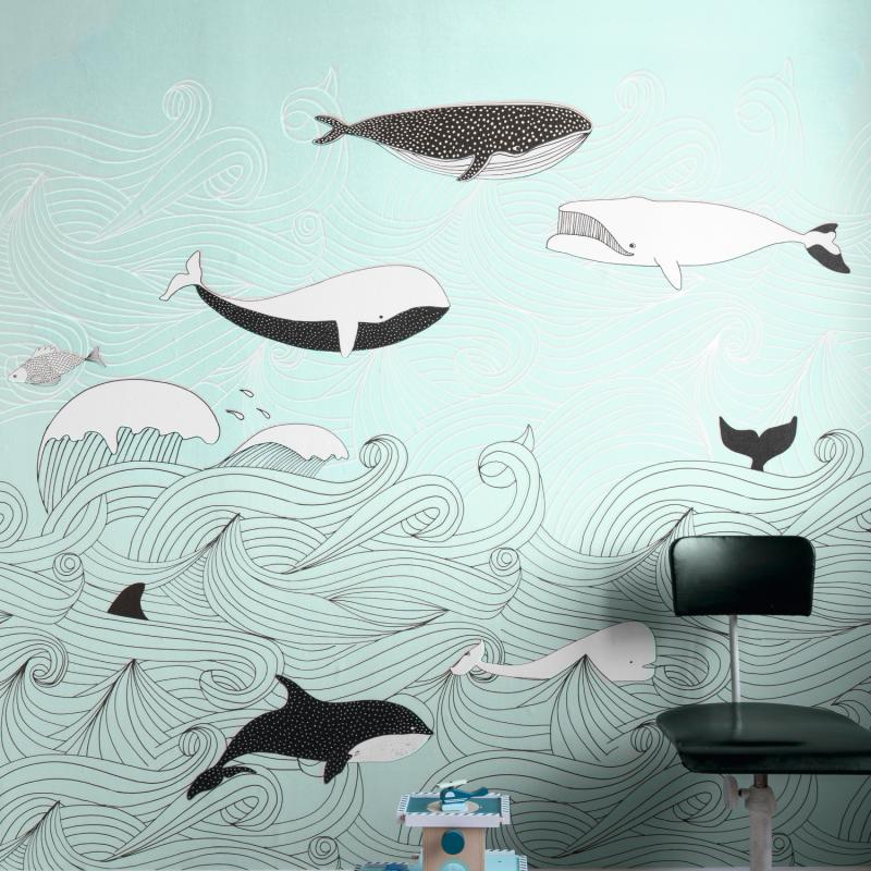 Panoramique Sous l'Océan bleu ciel - BAMBINO - Rasch - Studio Class BBN842500