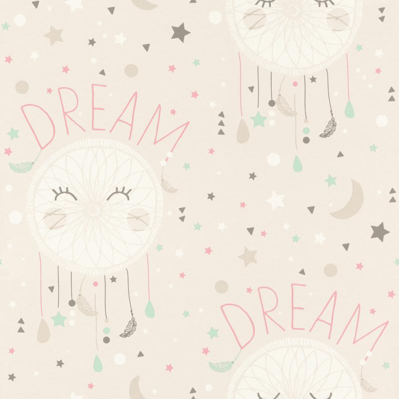 Papier peint Dream beige - BAMBINO - Rasch - BBN248777