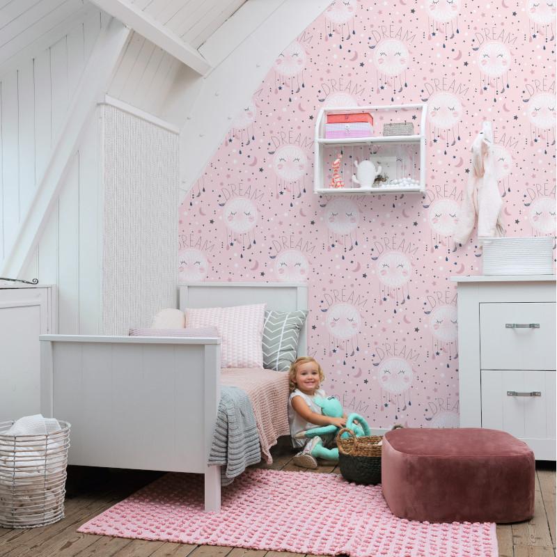 Papier peint Dream rose - BAMBINO - Rasch - BBN248753