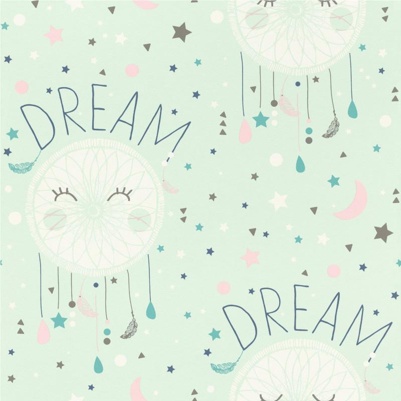 Papier peint Dream vert d'eau - BAMBINO - Rasch - BBN248760
