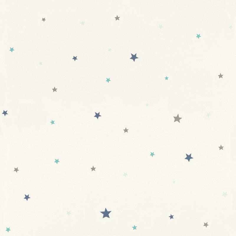 Papier peint Etoiles blanc - BAMBINO - Rasch - BBN245264
