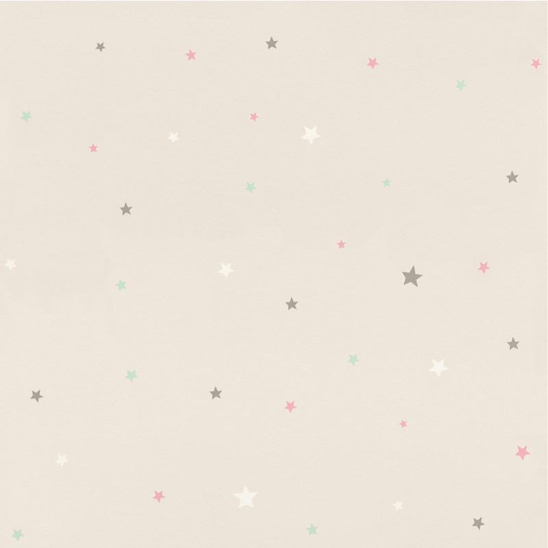 Papier peint Etoiles gris - BAMBINO - Rasch - BBN245257