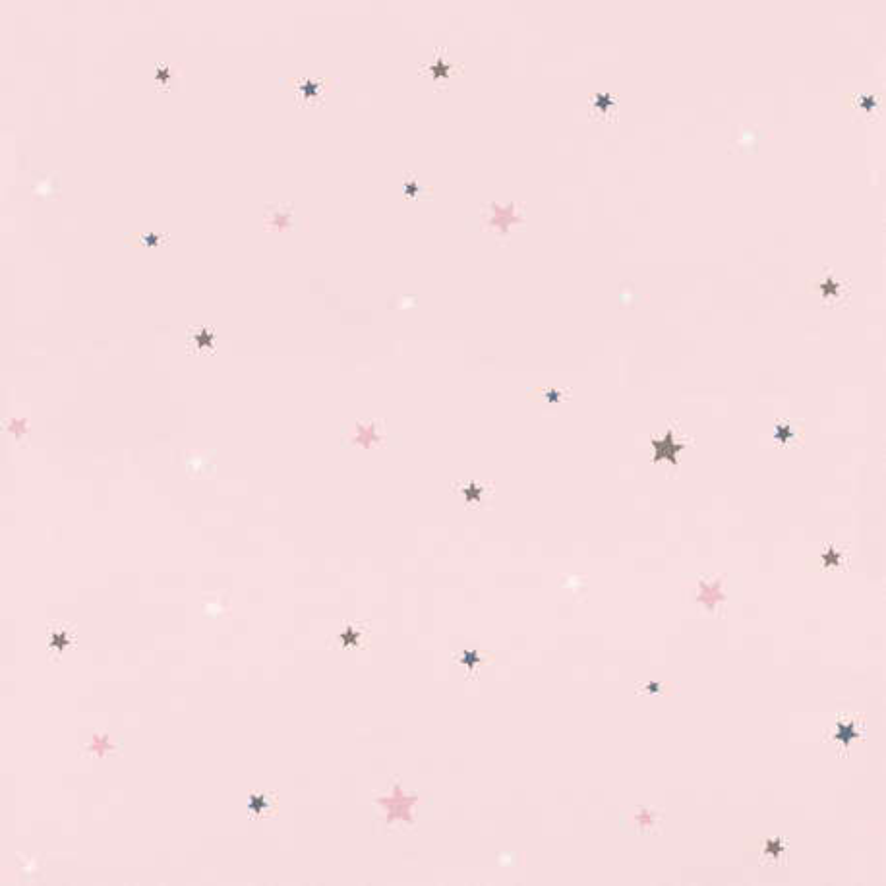 Papier peint Etoiles rose - BAMBINO - Rasch - BBN245233