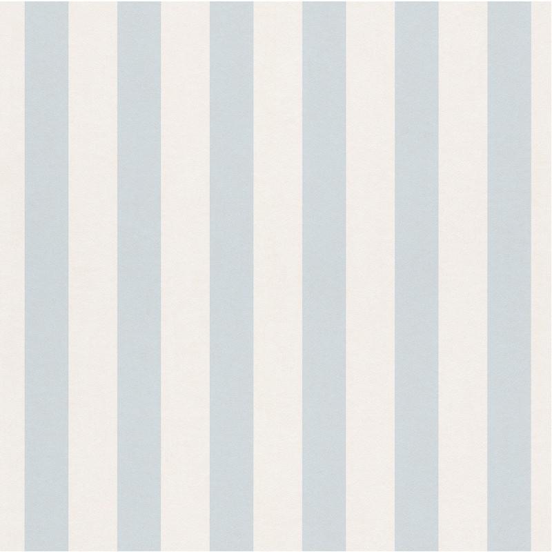 Papier peint Rayures bleu clair - BAMBINO - Rasch - BBN246025