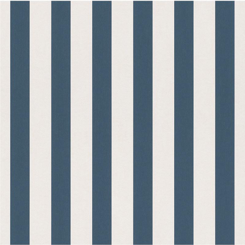Papier peint Rayures bleu marine - BAMBINO - Rasch - BBN246049