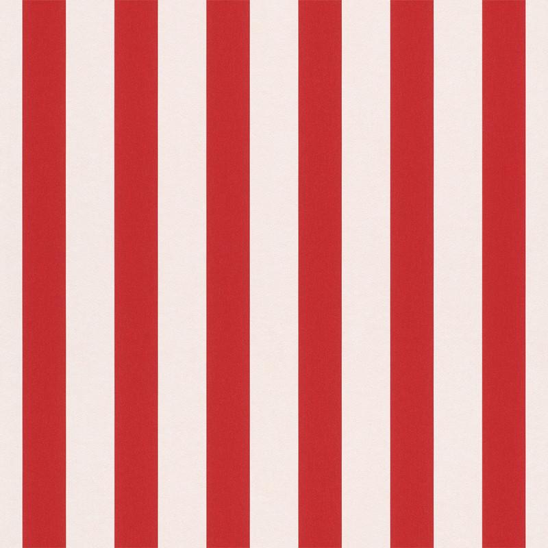 Papier peint Rayures rouge - BAMBINO - Rasch - BBN246032