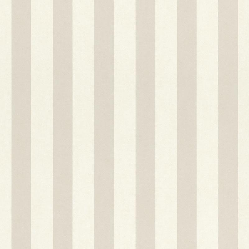 Papier peint Rayures beige foncé - BAMBINO - Rasch - BBN246056
