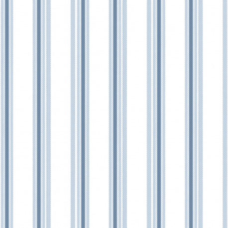 Papier peint Rayure bleu et blanc - BABY LAND - Lutèce - 5436