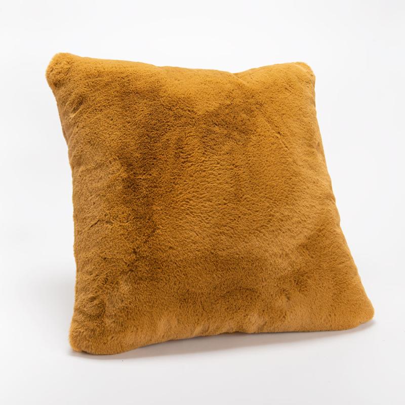 Coussin Luxe camel tout doux - 50x50cm - Amadeus