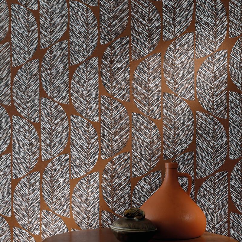 Papier peint Abelia terracotta - ORPHEE - Casamance - 74721224