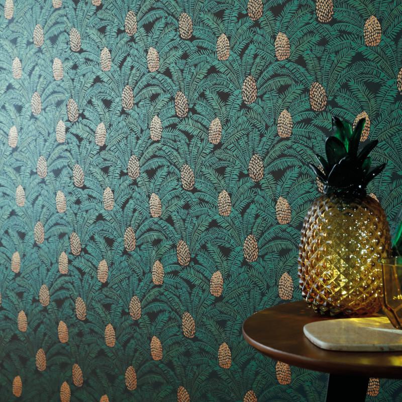 Papier peint Palmeta sapin - ORPHEE - Casamance - 74741942