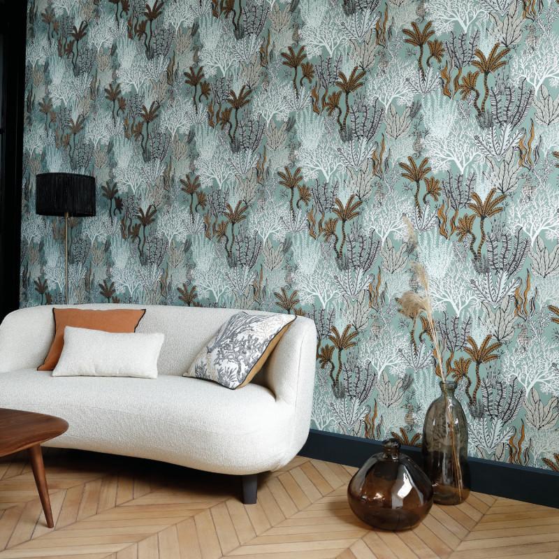 Papier peint Posidonie celadon - ORPHEE - Casamance - 74700100