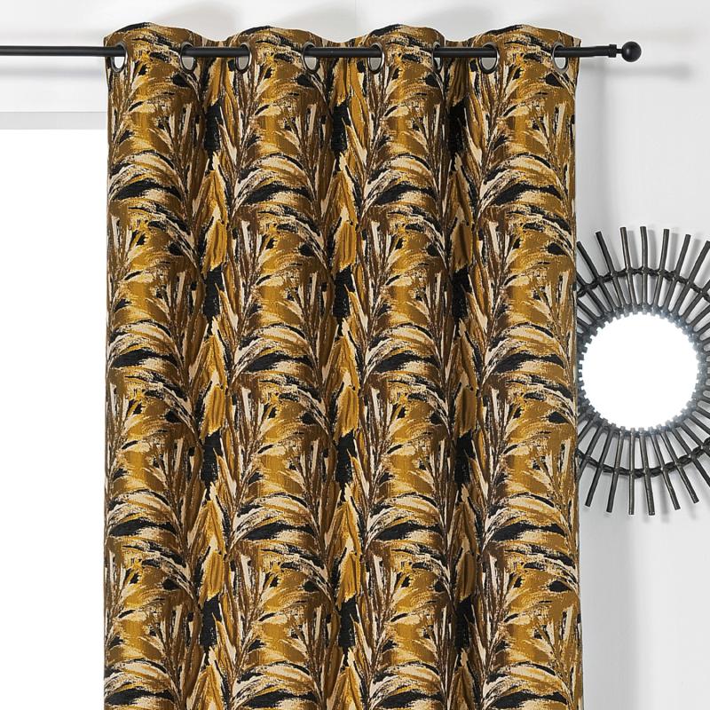 Rideau à œillets Brazil jaune - Linder - 01912-39
