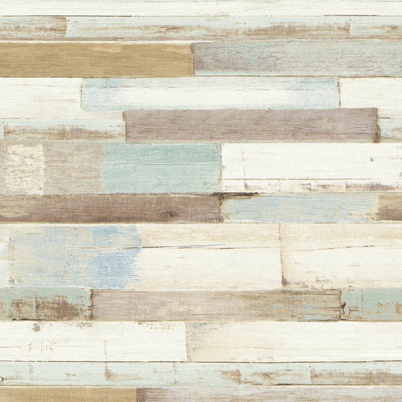Papier peint Bois blanc bleu et marron - IL DECORO - AS Creation - 36857-1