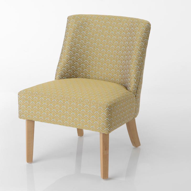 Fauteuil Daba jaune - 70x50x60cm - Amadeus - 144131