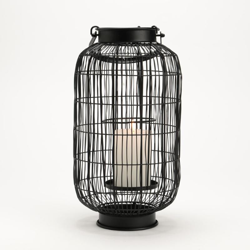 Lanterne Ryokan noir - 32x18cm - Amadeus - 146433