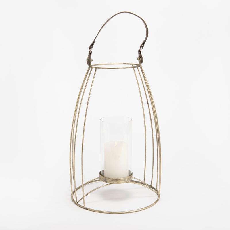 Lanterne Albi doré GM - 53x25cm - Amadeus - 151316