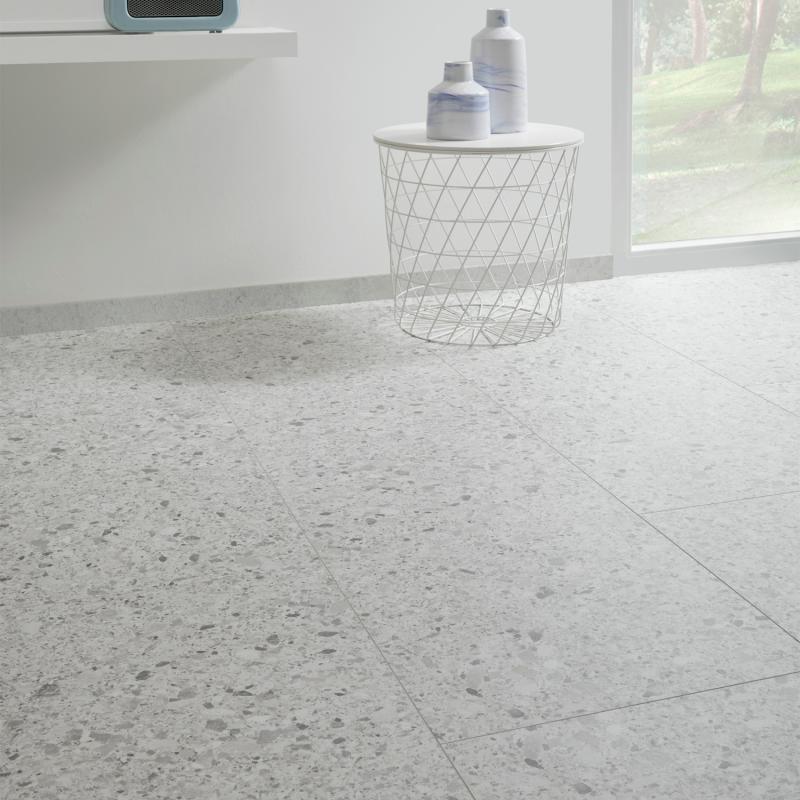 """Dalle céramique clipsable """"Branco 50CERA0990B"""" gris clair - Ceratouch - CORETEC"""