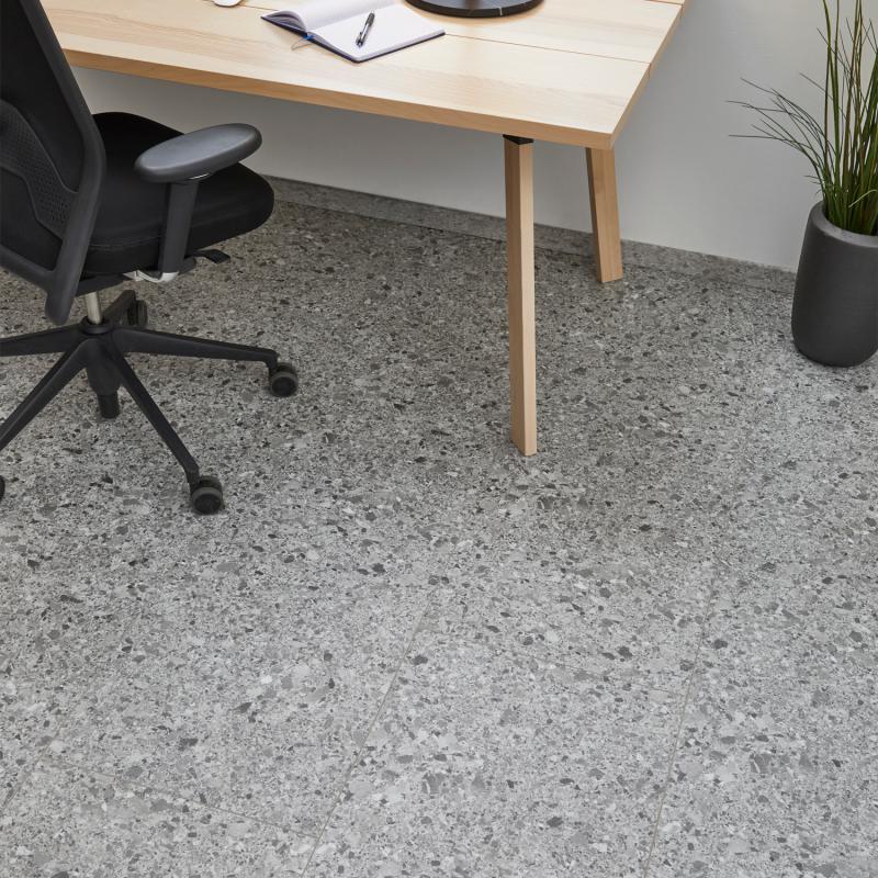 """Dalle céramique clipsable """"Branco 50CERA0993B"""" gris foncé - Ceratouch - CORETEC"""