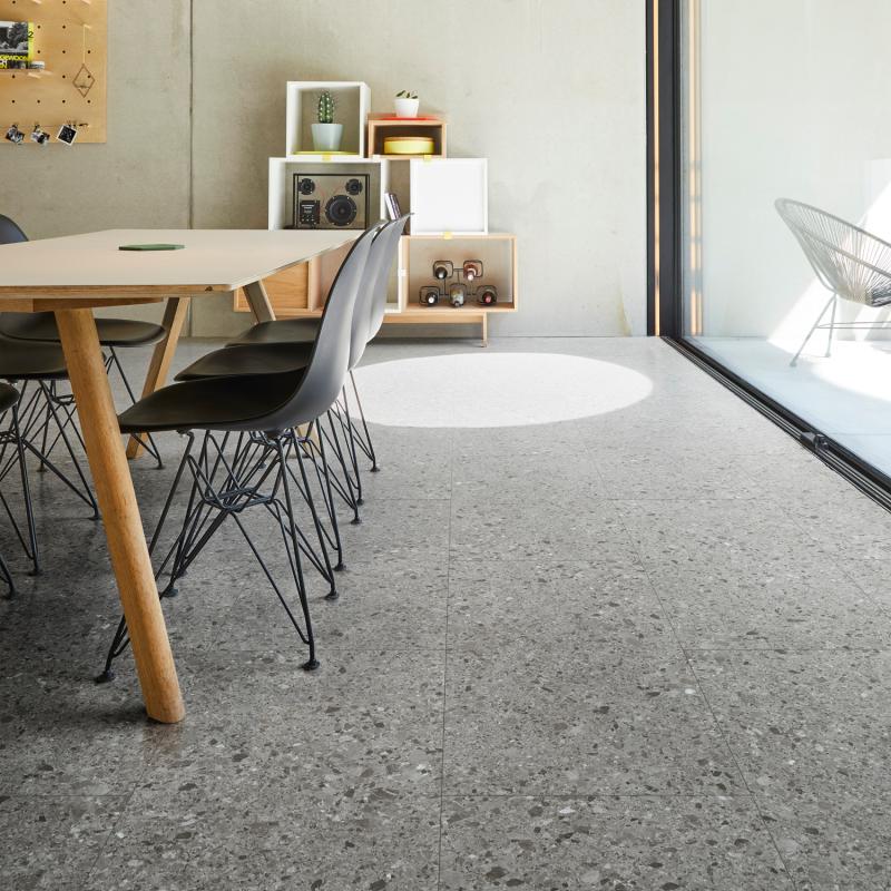"""Dalle céramique clipsable """"Branco 50CERA0997B"""" gris anthracite - Ceratouch - CORETEC"""