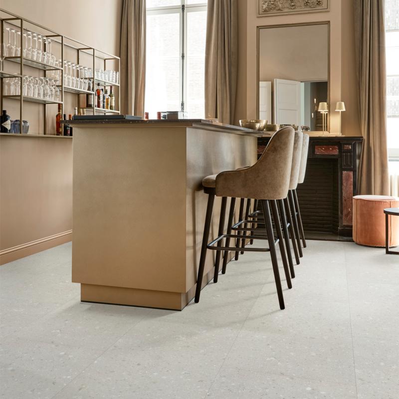 """Dalle céramique clipsable """"Eifel 50CERA1091B"""" gris clair - Ceratouch - CORETEC"""