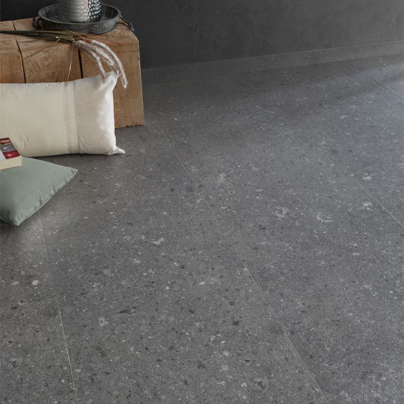 """Dalle céramique clipsable """"Eifel 50CERA1095B"""" gris foncé - Ceratouch - CORETEC"""
