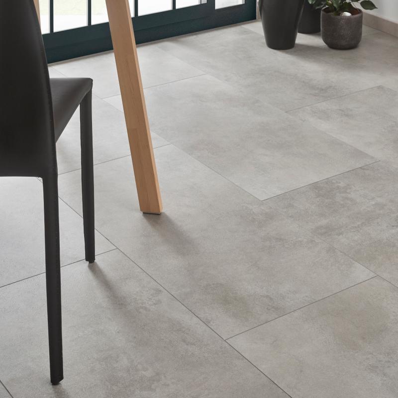 """Dalle céramique clipsable """"Pico 50CERA0393B"""" gris clair - Ceratouch - CORETEC"""