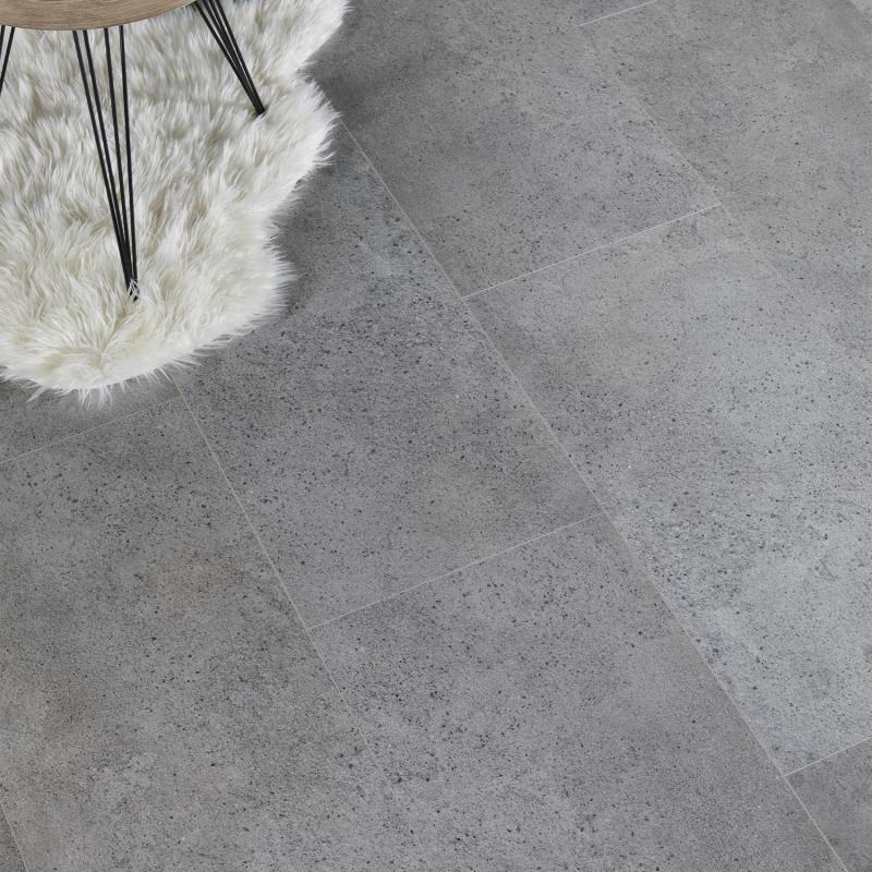 """Dalle céramique clipsable """"Rhon 50CERA0593B"""" gris clair - Ceratouch - CORETEC"""