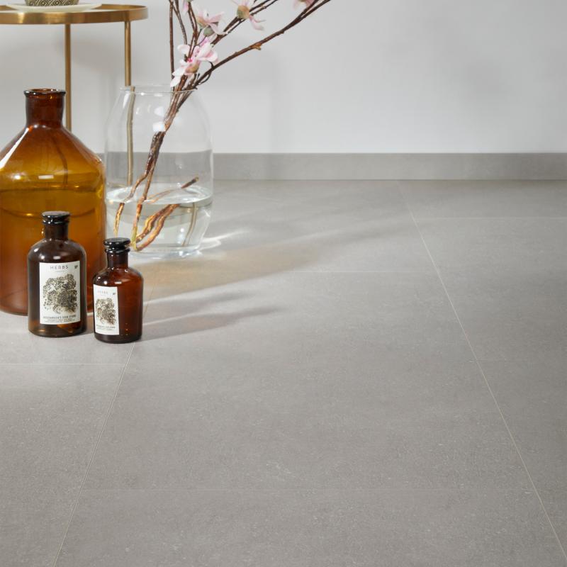 """Dalle céramique clipsable """"Ustica 50CERA0293B"""" gris clair - Ceratouch - CORETEC"""