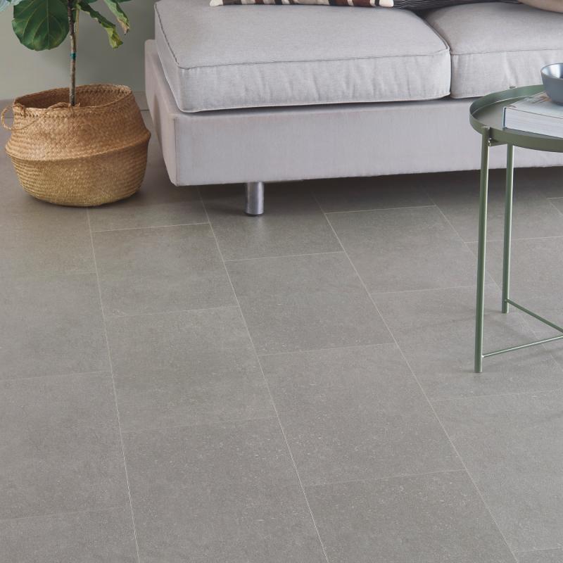 """Dalle céramique clipsable """"Ustica 50CERA0293A"""" gris clair - Ceratouch - CORETEC"""