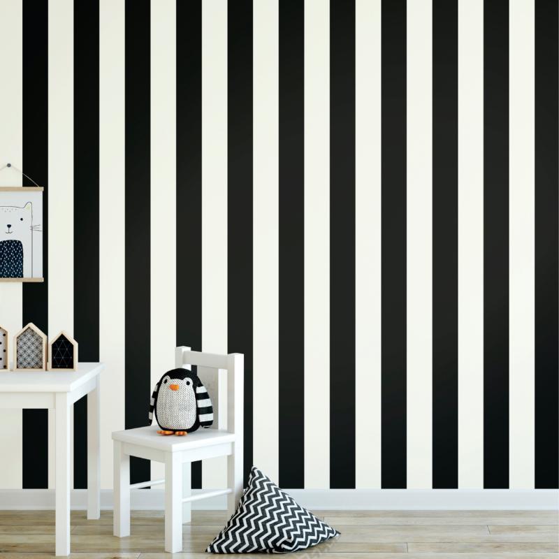 Papier peint adhésif Awning noir - LES ADHESIFS - Lutèce - RMK11082