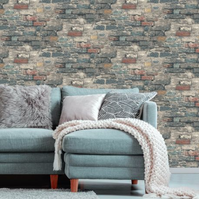 Papier peint adhésif Brick Alley - LES ADHESIFS - Lutèce - RMK11080
