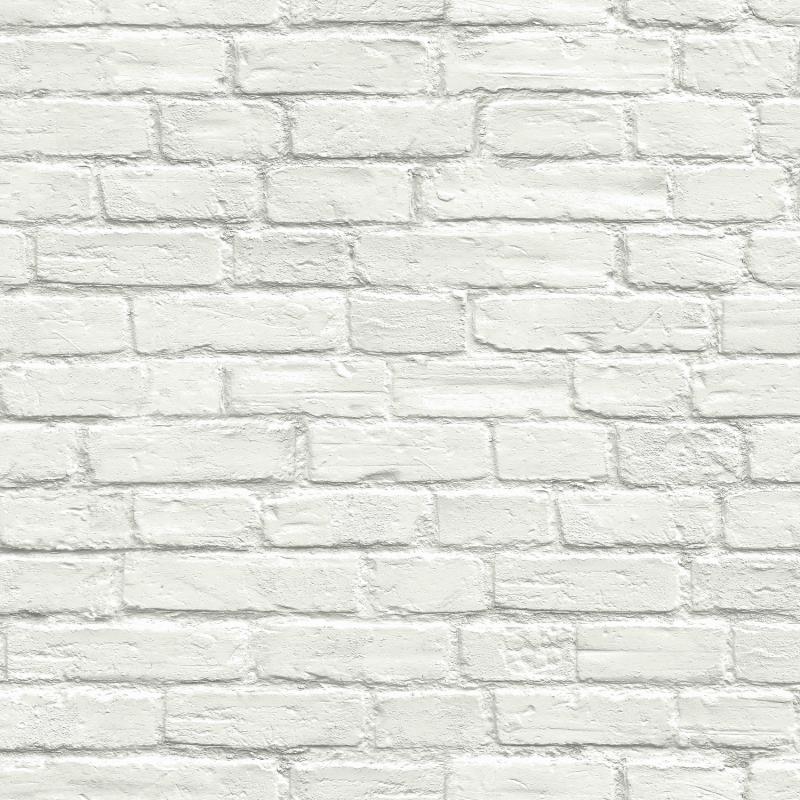 Papier peint adhésif Brique Blanche - LES ADHESIFS - Lutèce - AX10800