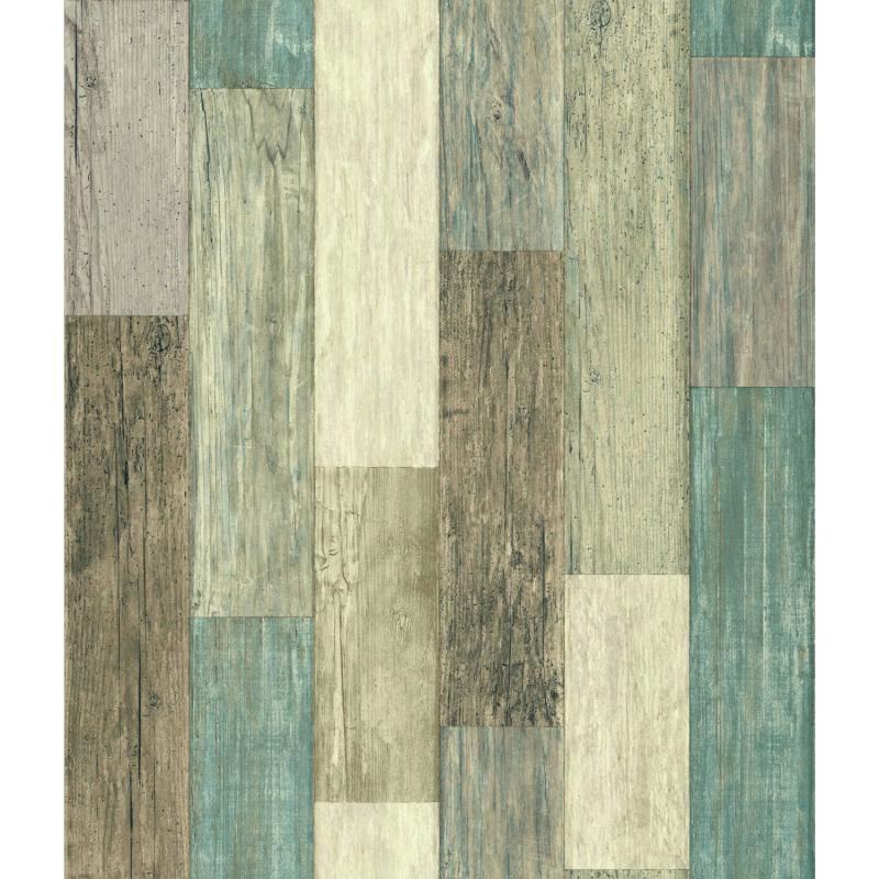 Papier peint adhésif Coastal Plank bleu - LES ADHESIFS - Lutèce - RMK10840