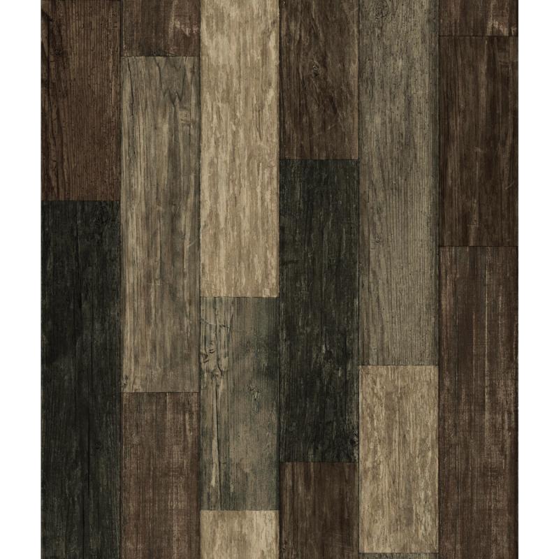 Papier peint adhésif Dark Plank marron - LES ADHESIFS - Lutèce - RMK10841