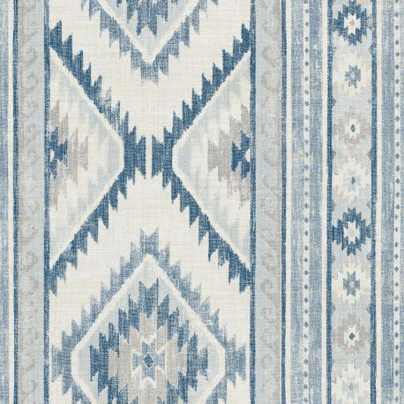 Papier peint adhésif Ethnique bleu - LES ADHESIFS - Lutèce - NW31800