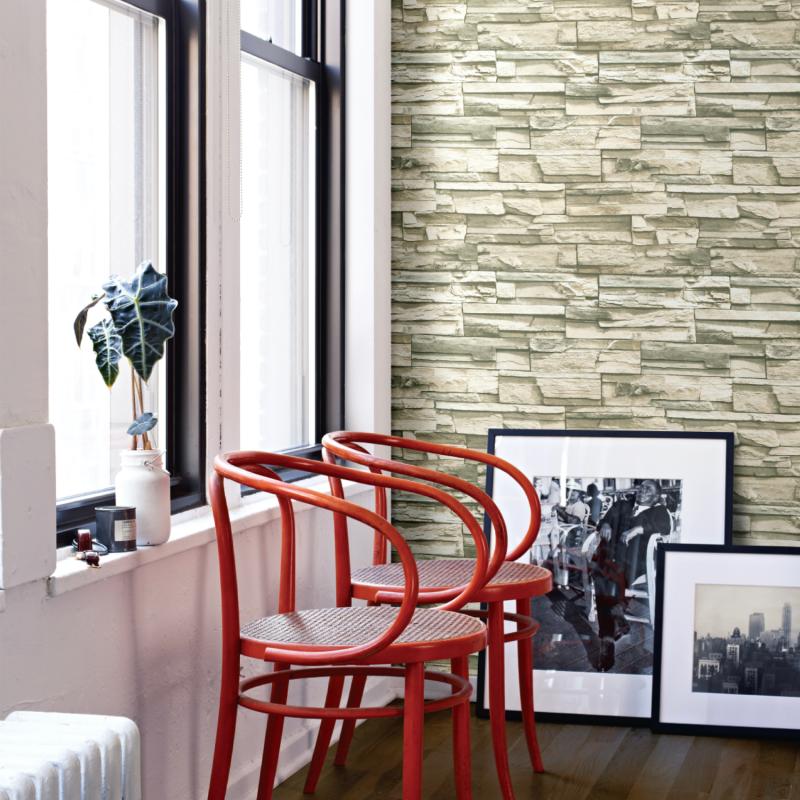 Papier peint adhésif Flat Stone - LES ADHESIFS - Lutèce - RMK9026