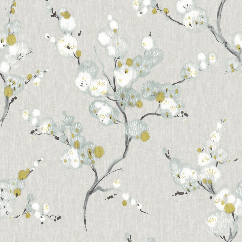 Papier peint adhésif Fleurs Orientales gris - LES ADHESIFS - Lutèce - NU2679