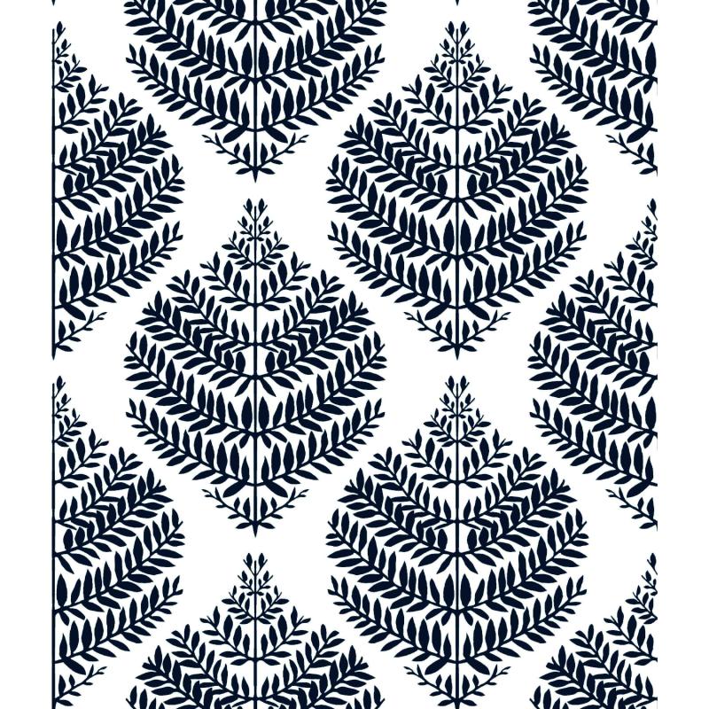 Papier peint adhésif Hygge Fern bleu - LES ADHESIFS - Lutèce - RMK11510