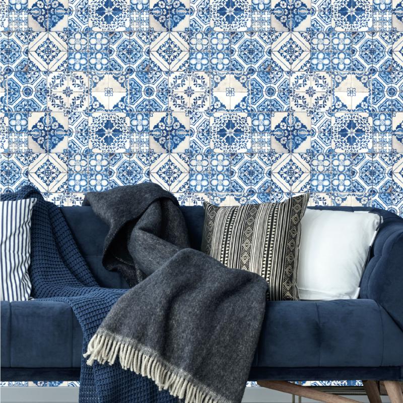 Papier peint adhésif Mediterranian Tile - LES ADHESIFS - Lutèce - RMK11083