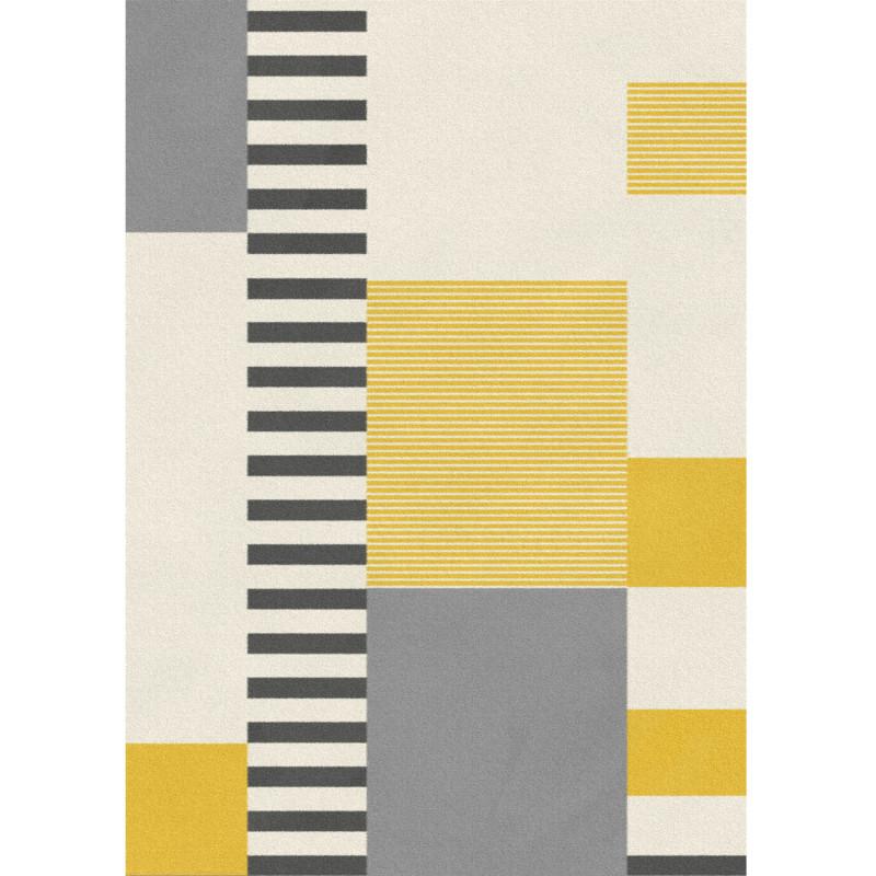 Tapis contemporain jaune et gris - Canvas - 160x230cm